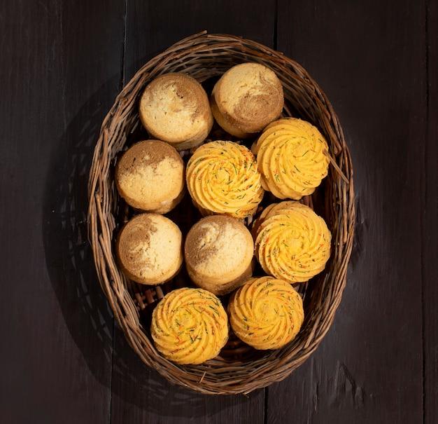 Indisches süßes essen nankhatai oder kekse