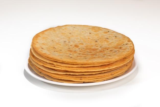 Indisches traditionelles essen khakhara aus weizenmehl