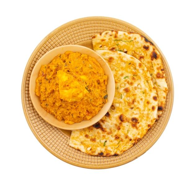 Indisches vegetarisches küche-spezielles süßes und würziges paneer pasanda