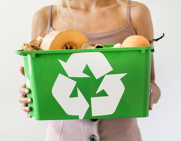 Individuelles recycling von bio-gemüse
