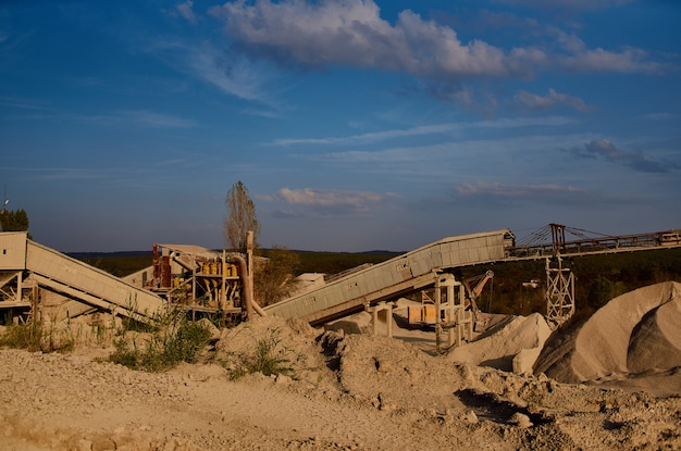Industriegebiet kiessand geologiearbeiten