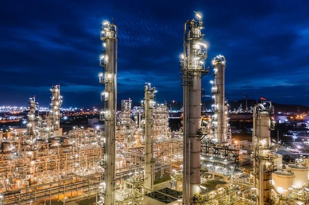 Industriegebiet öl- und gas-lpg-raffinerieanlagen und -speicher-pipeline in thailand