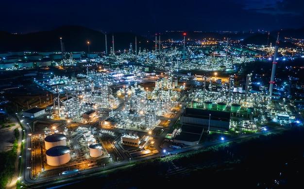 Industriegebiet öl- und gas-lpg-raffinerieanlagen und speichert pipeline in thailand