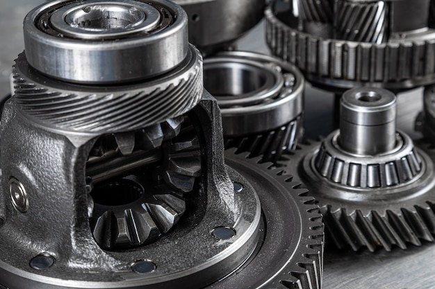 Industrielle metallzahnräder für den hintergrund