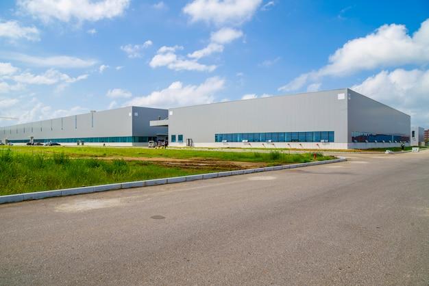Industriepark, fabrikgebäude, lager