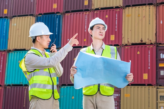 Ingenieursteuerung ladecontainer box aus fracht frachtschiff import export