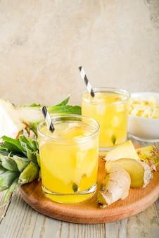 Ingwer-ananas-tee