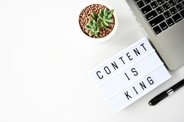 Inhalt ist könig business flach legen, minimalistischer stil
