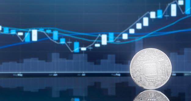 Initial coin offer (ico) und kryptowährung.