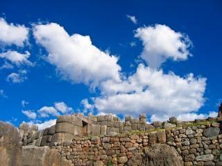 Inka-ruinen historischer