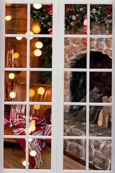 Innen für weihnachten dekoriert