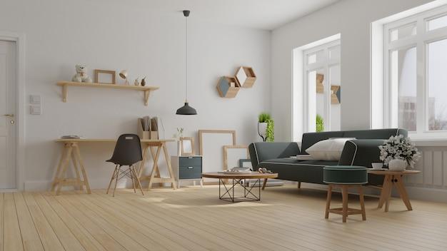 Innen wohnzimmer rendering