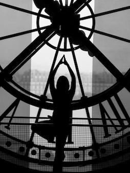 Innenansicht der uhr bei musee d'orsay