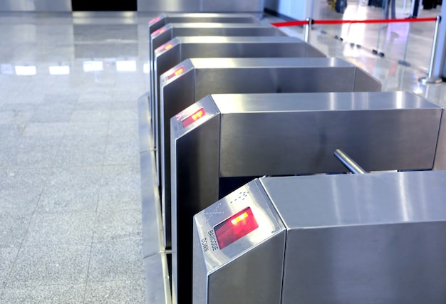 Innenansicht des sicherheitssystems der elektronischen zugangskontrolle nahaufnahme