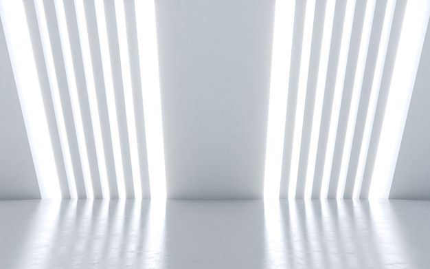Innenarchitektur des beleuchteten korridors.