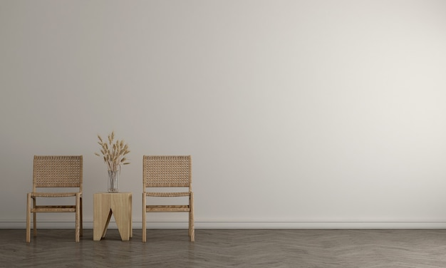 Innenarchitektur des modernen modelldekors des wohnzimmers und des weißen wandbeschaffenheitshintergrunds