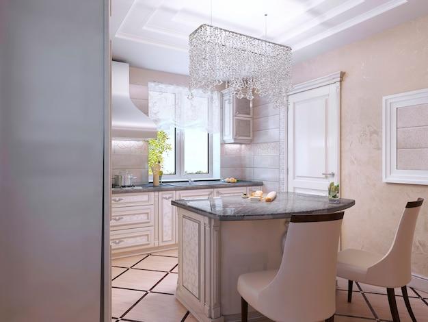 Innenarchitektur einer luxuriösen modernen küche