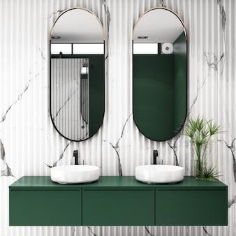 Innenarchitektur für badezimmer im modernen stil