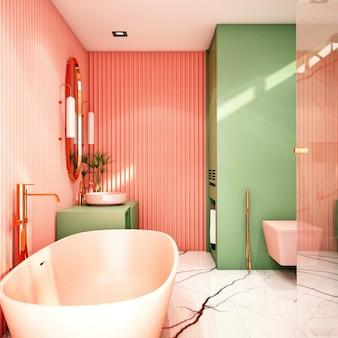 Innenarchitektur für badezimmerbereich im modernen stil