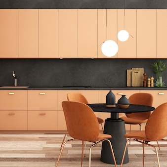Innenarchitektur für speisekammerbereich im skandinavischen stil