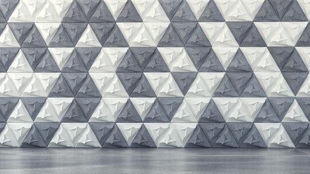 Innenarchitektur in weiß und grün, nahtloses muster. 3d-illustration, 3d-rendering.