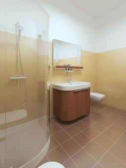 Innenbadezimmer im zeitgenössischen stil
