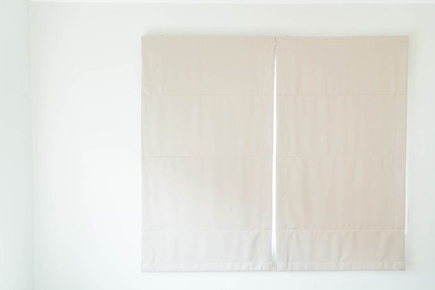 Innendekoration des vorhangs im wohnzimmer