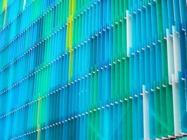 Innenebene der acrylkunststoffplatte und farbe gelbblaues aqua