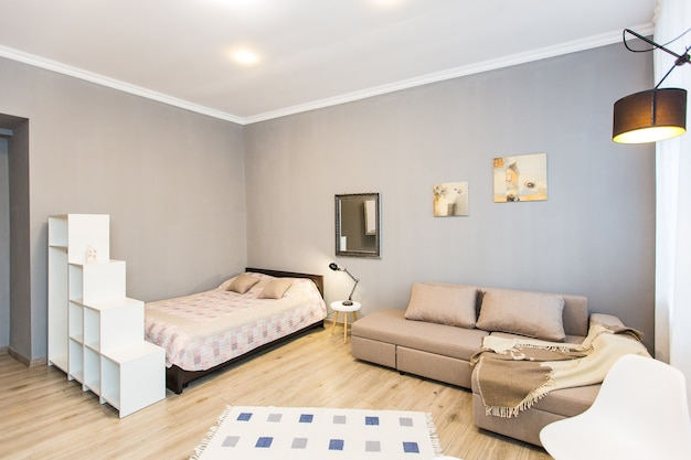 Innenfotografie, modernes schlafzimmer, mit tv