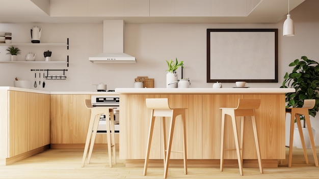 Innenküche. 3d-rendering.