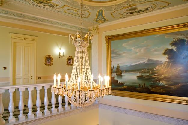 Innenraum der alten sizilianischen villa