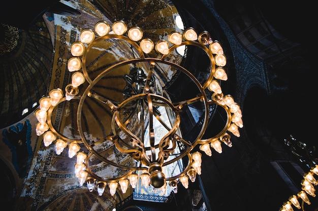 Innenraum der historischen basilika von saint sophia, moschee für den meisten besuchten moslemischen kult