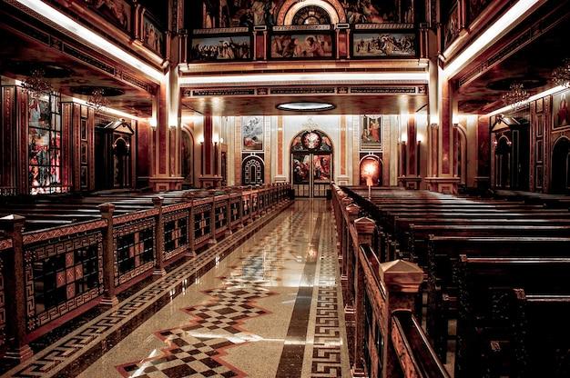 Innenraum der optischen kirche