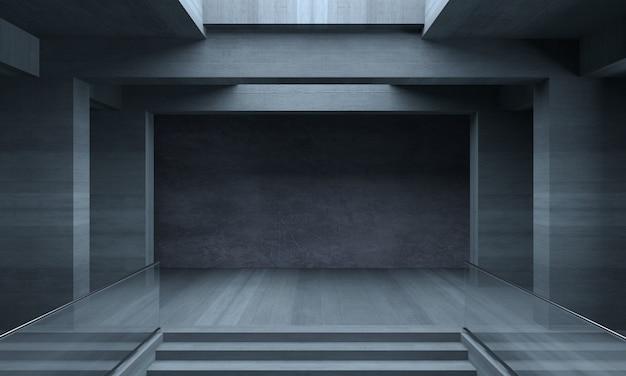 Innenraum des konkreten labyrinthhintergrundes