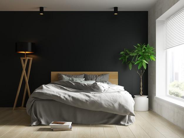 Innenraum des modernen wohnzimmers mit stuhl 3d-rendering