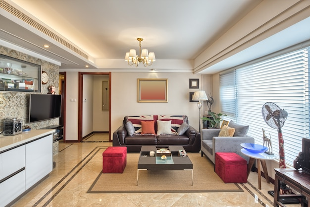 Innenraum des modernen wohnzimmers