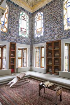 Innenraum des topkapi palastes in istanbul, die türkei