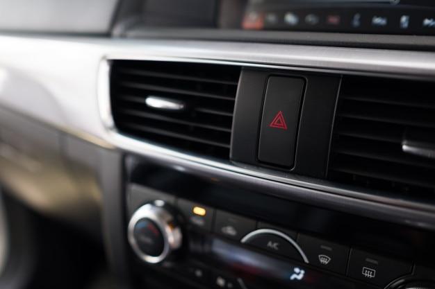 Innenraum eines modernen autos, auto-klimaanlage