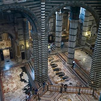 Innenraum von siena cathedral, siena, toskana, italien