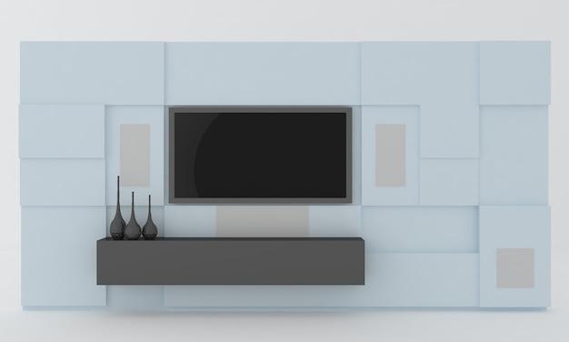 Innenwand des lcd-tv-racks