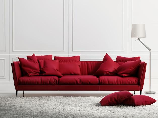 Innenwohnzimmer mit möbeln und sofa