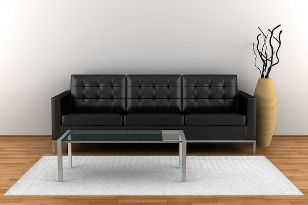 Innenwohnzimmer mit möbeln