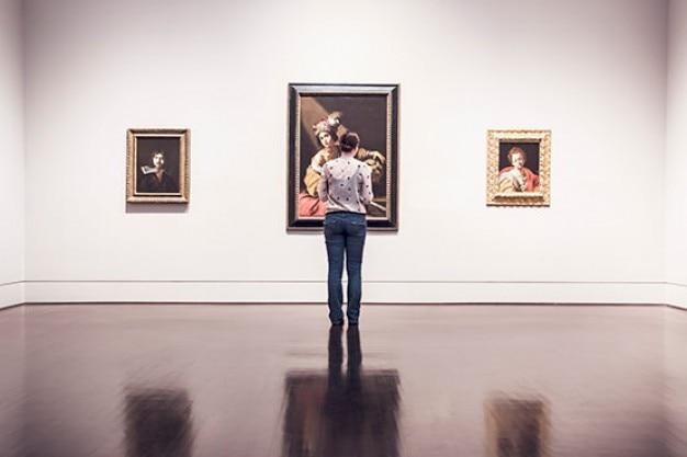Innerhalb der kunstgalerie