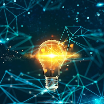 Innovation in der digitalen welt d rendering