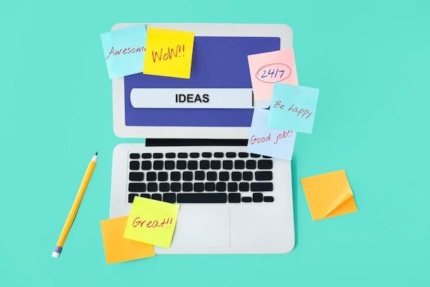Innovationsideen kreatives designkonzept