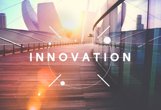 Innovationstechnologie seien sie ein kreatives futuristisches konzept
