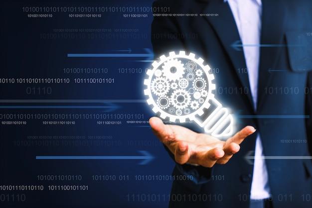 Innovative technologieideen. kreatives ideenkonzept - bild