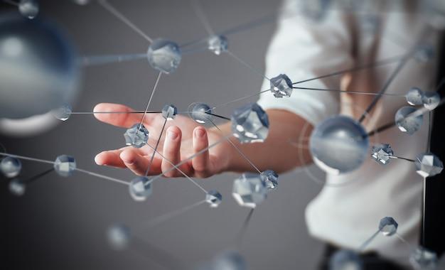 Innovative technologien in wissenschaft und medizin. technologie zum verbinden.