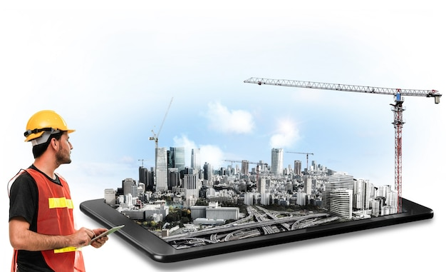 Innovativer architektur- und ingenieurbauplan