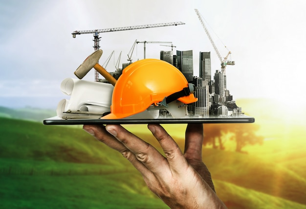 Innovativer architektur- und tiefbauplan
